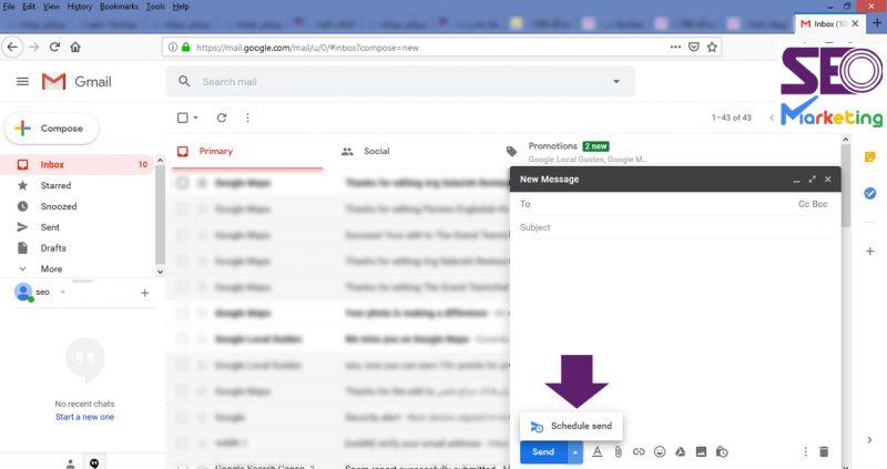 نحوه ارسال ایمیل زمانبندی شده در جیمیل